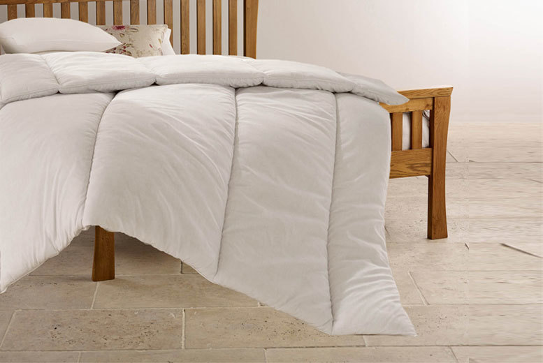 £12 (from Home Furnishings Company) for a winter duvet with two bounceback pillows, £14 for a double, £16 for a king, £18 for a superking - save up to 69%