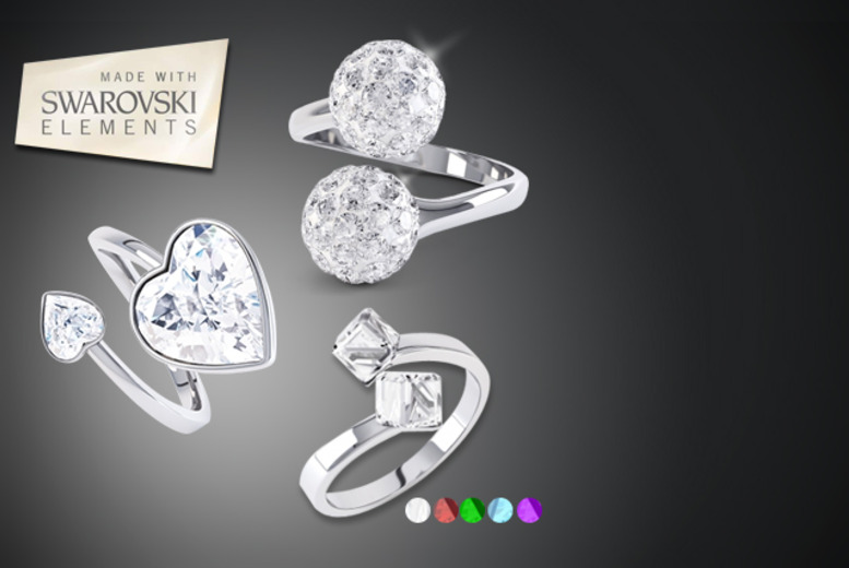 £9 instead of up to £59 (from Rocks of London) for a choice of Swarovski Elements rings - save up to 82%