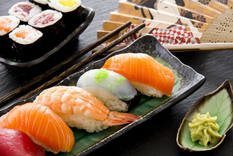 £19.99 for a sushi meal for 2 including 10 dishes to share and a drink each at Yazu Sushi, Mayfair