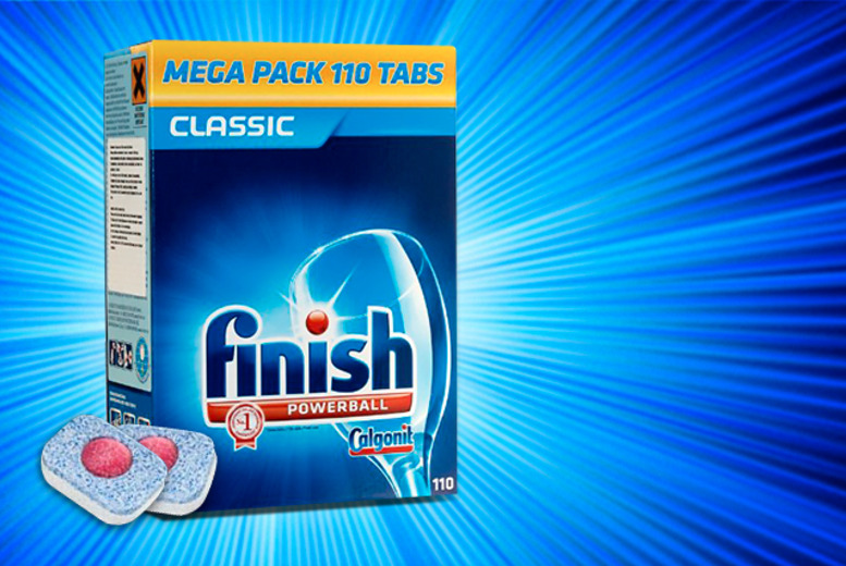 £9.99 for a pack of 110 Finish Powerball dishwasher tablets, £19.99 for 220, £28.99 for 330, £37.99 for 440 - save up to 67%