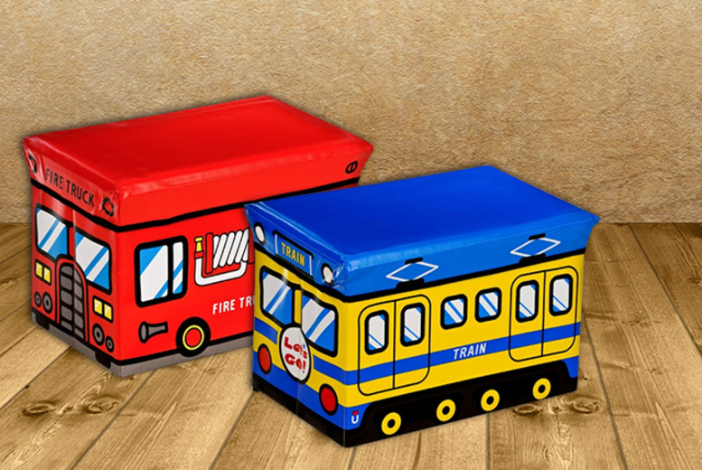 £12.99 for a children's storage box in a choice of 2 designs inc. fire truck and train from Wowcher Direct - save 35%