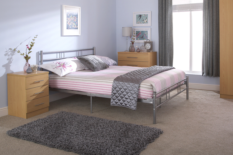 £59 instead of £90.01 for a 90cm metal bed frame, £69 for a 120cm metal bed frame or £79 for a 135cm metal bed frame – save up to 34%
