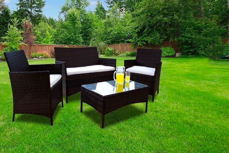 4-Seater Rattan Furniture Set – 3 Colours! (£199)
