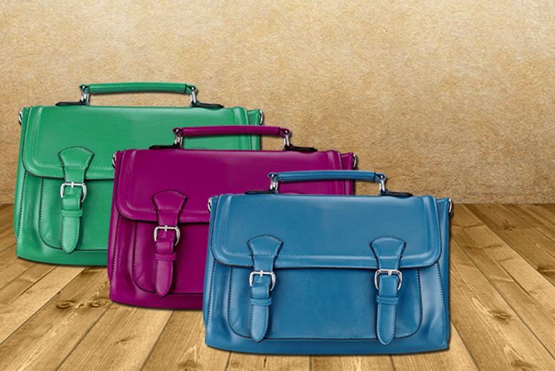 £14.99 instead of £28.71 (from Miss Lulu) for a stylish faux-leather satchel in a choice of 9 colours - save a smart 48%