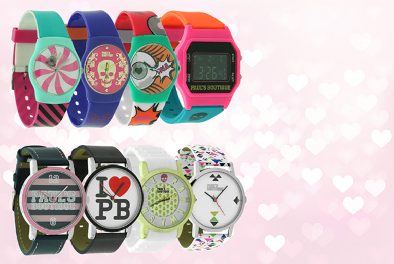 £14.99 instead of up to £50 (from Jewellery Bank) for a Paul's Boutique designer watch - choose from 24 fab designs and save up to 70%