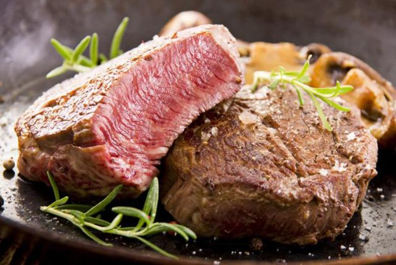 £24 instead of up to £48.90 for an 8oz hot stone steak dinner for 2 inc. side dish & glass of wine each at Rango's, Farringdon - save up to 51%