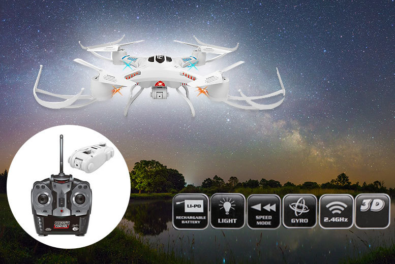 £49 instead of £189.99 (from Vivo Mounts) for a quadcopter 360 stunt drone with camera and remote control - take to the skies and save 74%