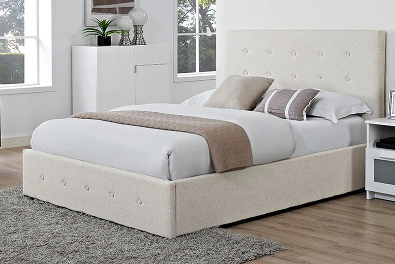 From £139 (from The Furniture Department) for a Venice fabric bed – choose from four sizes, two colours and mattress option and save up to 80%