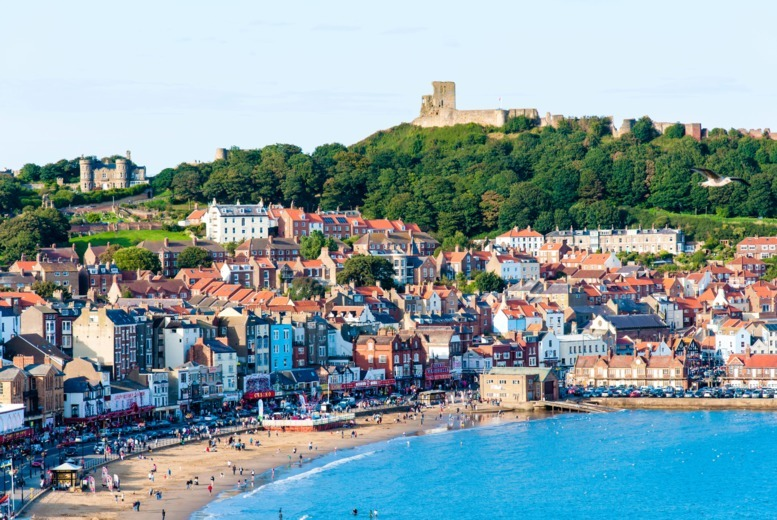 £49  for an overnight stay for two people with wine on arrival and breakfast, or £69 for two nights at Scarborough Travel & Holiday Lodge - save up to 45%