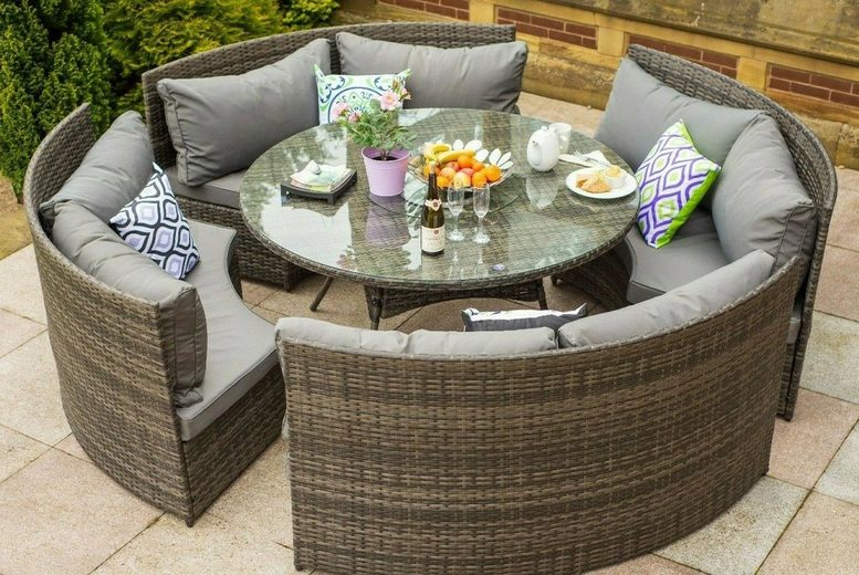 Papaver Eight-Seater Rattan Garden Set – 3 Colours! (£879)