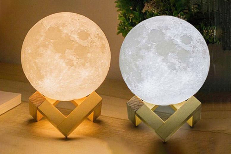 Image of 3D Moon Lamp | Yellow | Living Social
