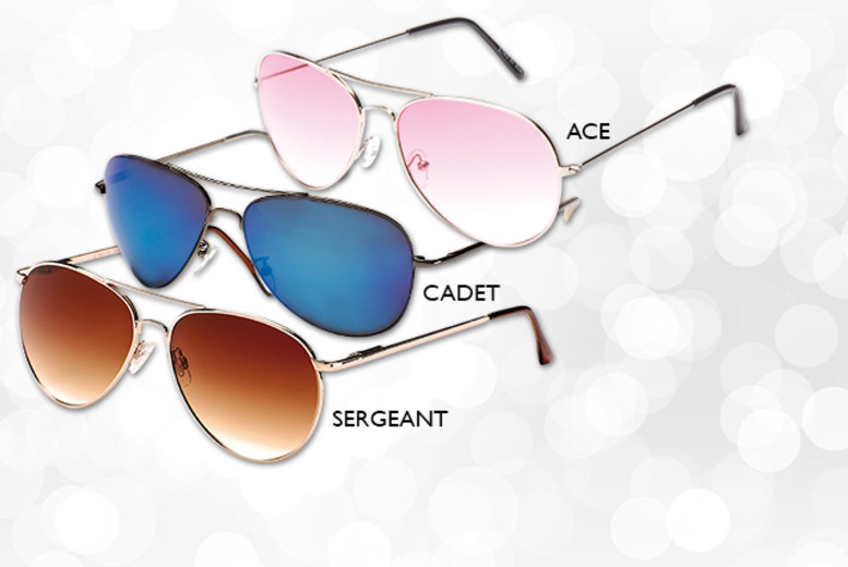£6.99 for a pair of unisex aviators in a choice of styles and colours with Wowcher Direct