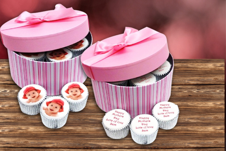 £9.99 instead of £25.99 (from Caketoppers) for a box of 6 personalised Mother's Day cupcakes, £11.99 for a photo set - save up to 62%
