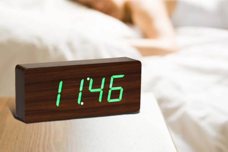 £32.99 instead of £45.99 (from 365 Games) for an LED wooden alarm clock - save 28%