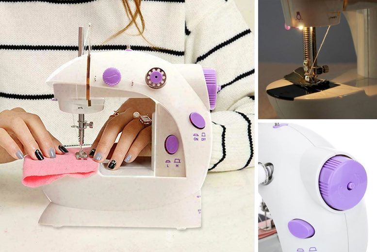 £19.99 (from Hey4Beauty) for a mini portable electric sewing machine