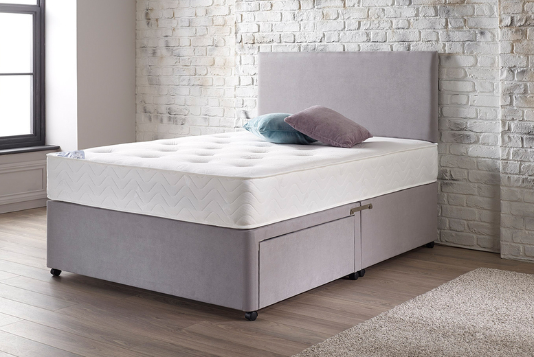 £419 (from Castons Furniture) for a double Support-A-Paedic pressure relief divan bed, mattress and headboard or £499 for a king size divan bed, mattress and headboard – choose from two headboard styles and 13 colours!