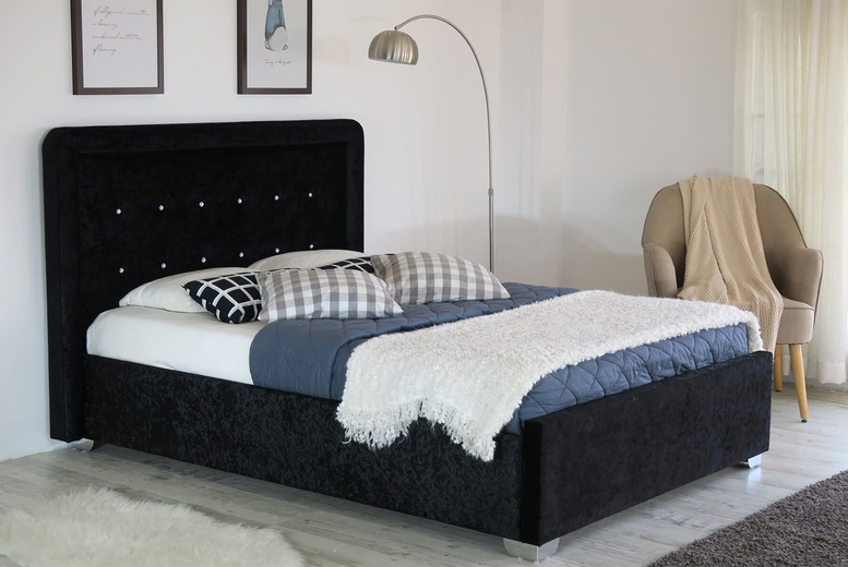 £169 (from Furniture Dealz) for a Contero crushed velvet double bed frame, £179 for a king-size bed frame