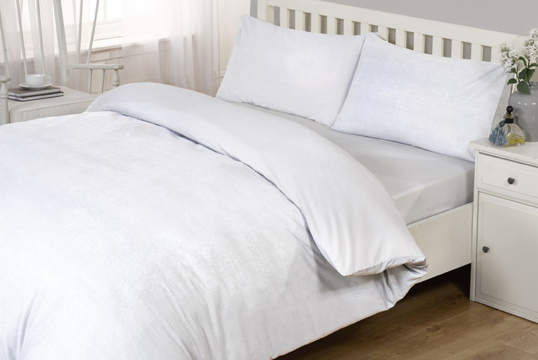 £24.99 (from Cascade Home) for a single ultra-soft organic bamboo duvet cover set, £34.99 for a double, £42.99 for a king or £46.99 for a super king!