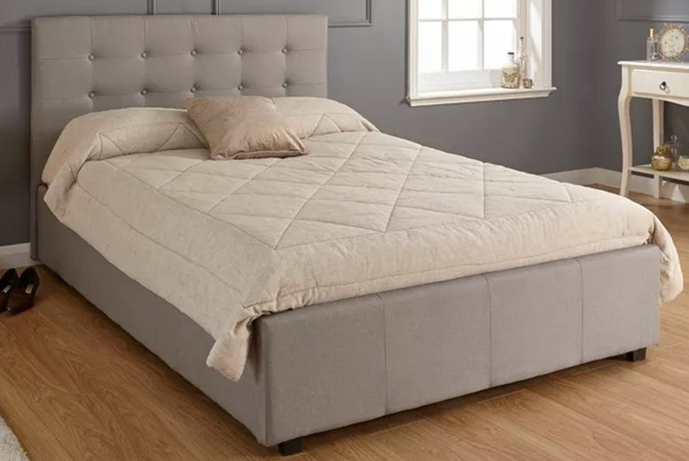 £239 for a single Imperial grey ottoman bed, £269 for a double bed or £299 for a king