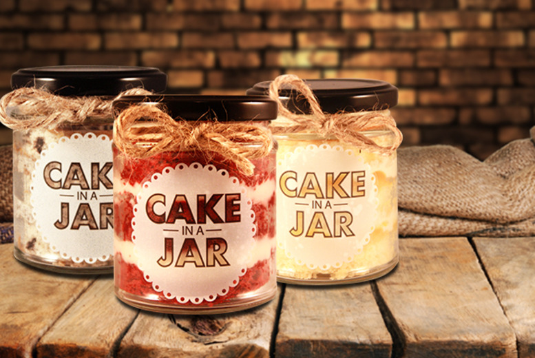 £9 instead of £17.25 for five unique 'Cake in a Jar' desserts  in a choice of flavours inc. red velvet & chocolate from Cake in a Jar - save 48%