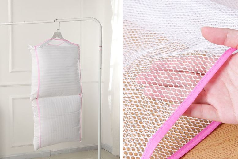 £6.99 instead of £19.99 for a breathable pillow drying net from Secretstorez – save 65%