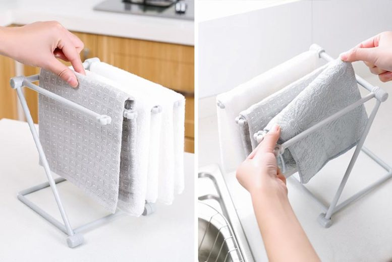 From £6.99 for a foldable towel holder from SecretStorz - save up to 65%