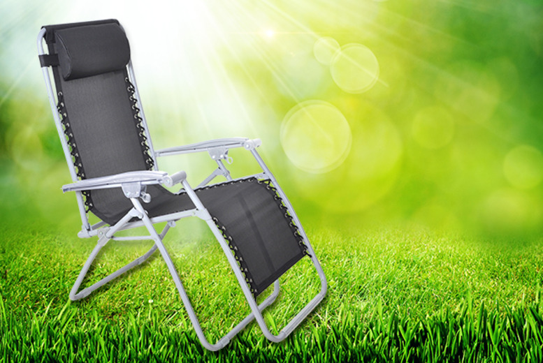 £29 for a reclining zero gravity sun lounger with an in-built headrest from Wowcher Direct