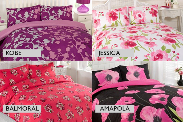 £7.99 for a single spring duvet cover and pillowcase set, £10.99 for a double or £12.99 for a king size from Wowcher Direct