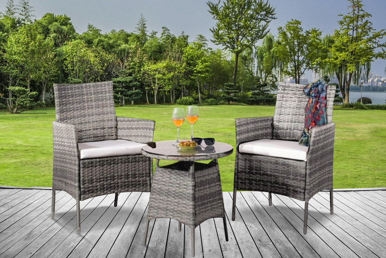 2-Seater Garden Patio Rattan Set – 3 Colours! (£149)