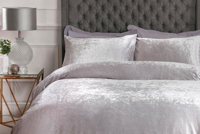 £12 (from Five Minutes More) for a single crushed velvet duvet cover set, £16 for a double set, £18 for a king size set or £20 for a super-king size set