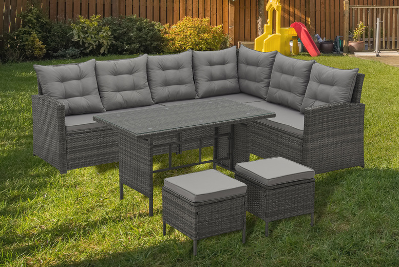 8-Seater Evre Monroe Rattan Garden Furniture Set – 3 Colours! (£749)