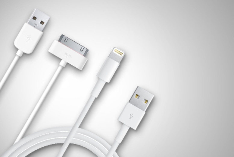 £4.99 (from Links 4) for 2 charging 1m cables for iPhones 3GS, 4, 4S (30 pin) or iPhones 5, 5C, 5S (8 pin) or £6.99 for 3 - save up to 67%