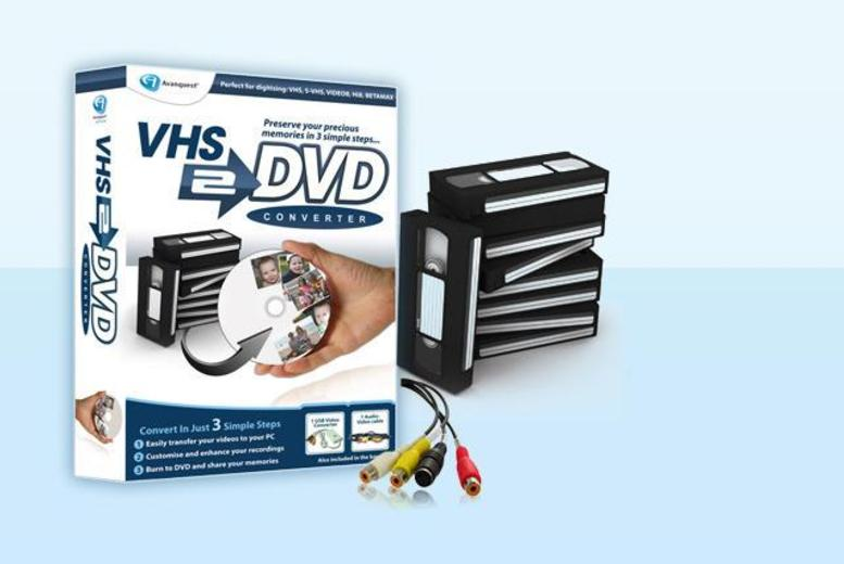£25 instead of £48.06 (from Avanquest) for a VHS to DVD converter - keep hold of those precious memories & save 48%