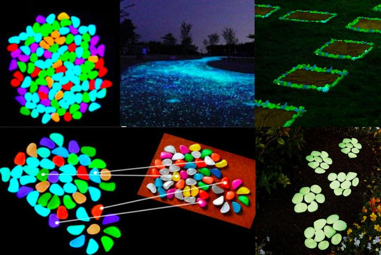 Image of 100Pc Glow In The Dark Garden Stones | Red | Living Social