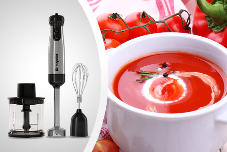 £29.99 instead of £45 for a Hotpoint HB0701AXO 700w hand blender, £39.99 inc. accessories from Wowcher Direct - save up to 33%