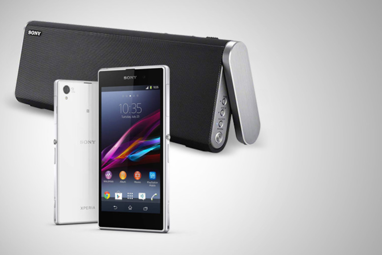 £10 (from The Smartphone Company) for a black or white Sony Xperia Z1 and speaker when you sign up to a 24mth contract - save 94% + DELIVERY INCLUDED