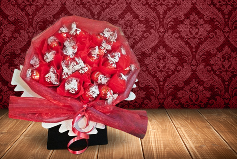 £19 for a gift-wrapped Lindor or Ferrero Rocher bouquet inc. a personalised message by Ne's Fruitilicious Bouquets, Leicester