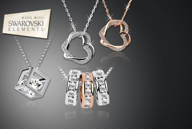 £10 instead of £89 (from Alvi's Fashion) for a choice of 3 Swarovski Elements necklaces - save 89%