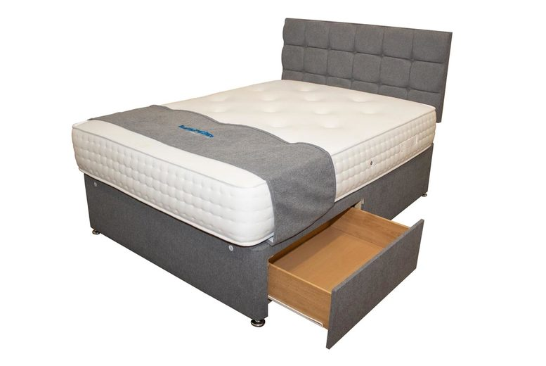 £429 (from NCF Living) for a double cashmere storage bed with divan base with two drawers and 1000 pocket spring mattress!