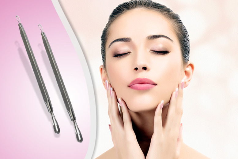 £8 instead of £19.99 (from Quick Style) for a set of 2 double-ended blemish extractor tools - save 60% + DELIVERY INCLUDED