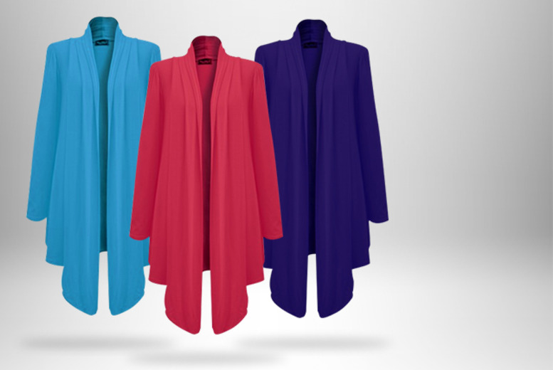 £9 instead of £18.96 (from TCQStore.com) for a Drape Waterfall cardigan in a choice of 6 colours - save 53%