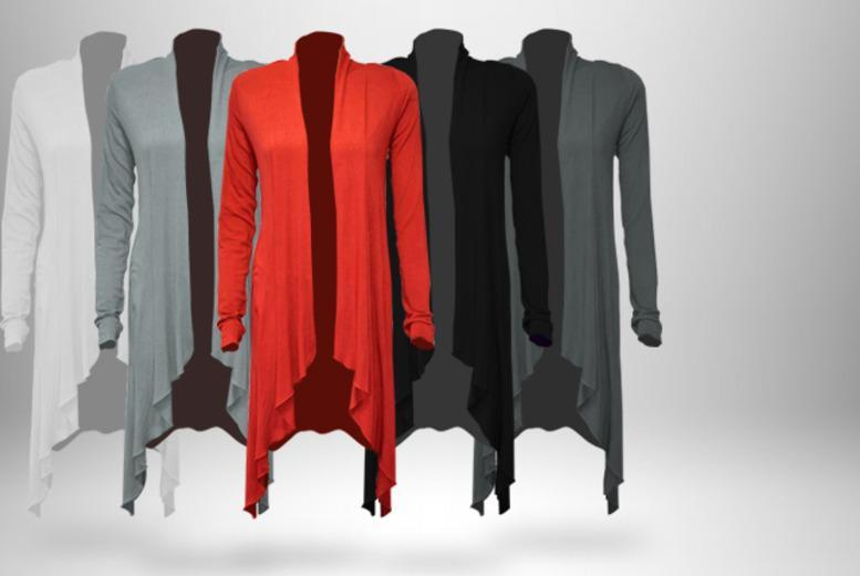 £9 instead of £39.99 (from The Digital Warehouse) for a waterfall cardigan in your choice of five colours, £16.99 for 2 - save up to 77%