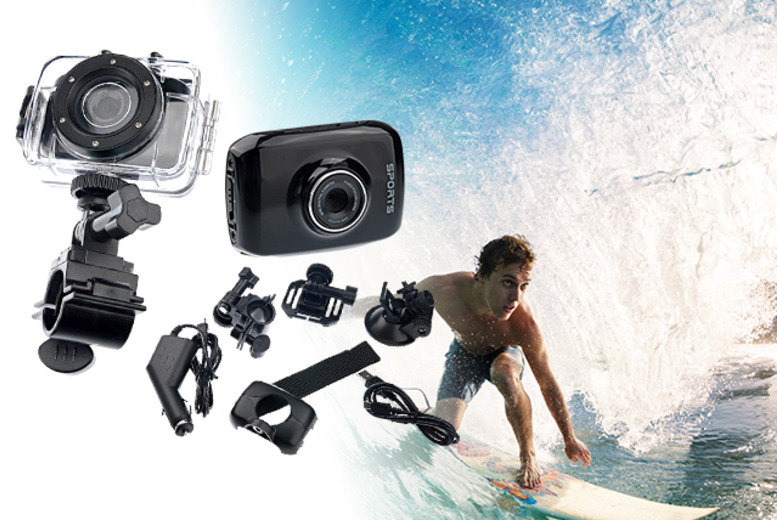 £39.99 instead of £149 (from Brand Labels) for an action sports waterproof digital camera and video recorder - save 73%