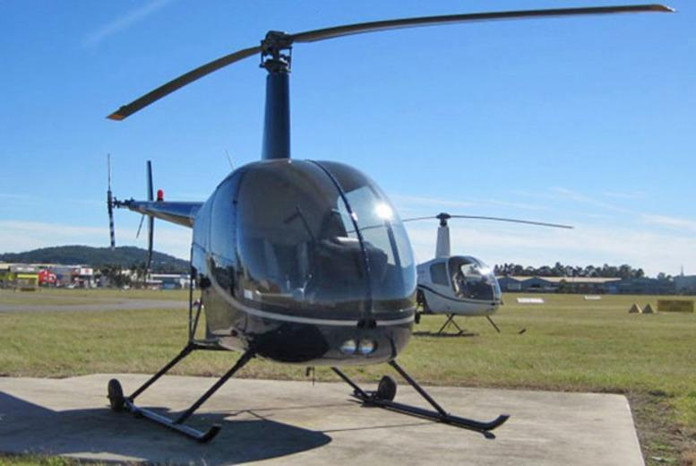 £99 for a 45-minute helicopter flying experience inc. welcome drink and certificate with Flying Pig Helicopters, London