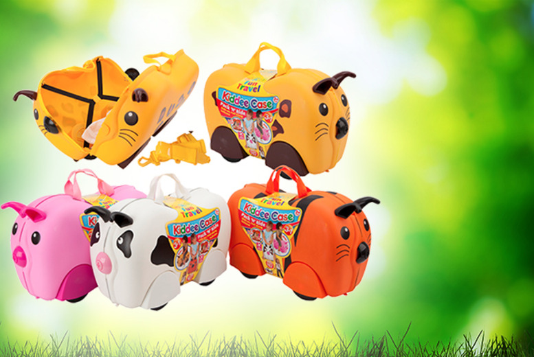 £24.99 instead of £55 (from Urshu) for an animal 'kiddee' ride-on suitcase in lion, tiger, pig or cow designs - save 55%