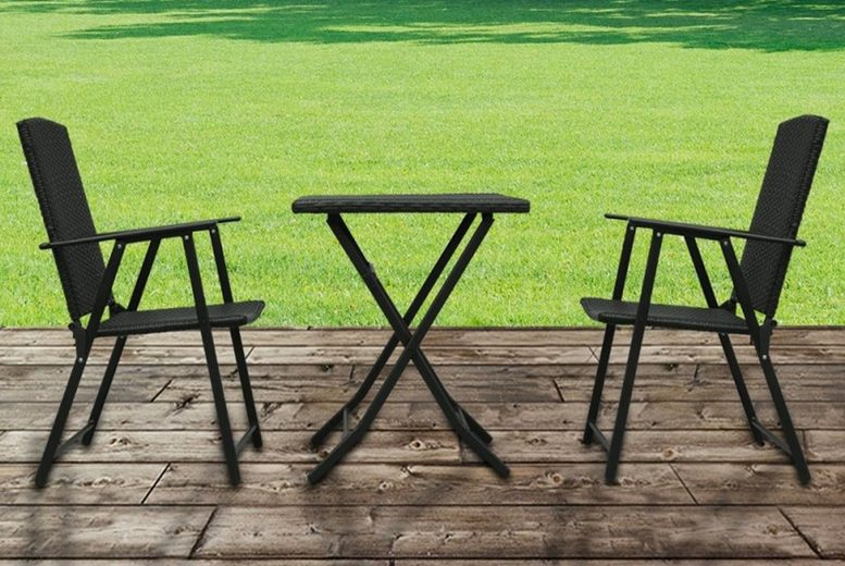 Rattan Bistro Table & Chairs Set (£99)