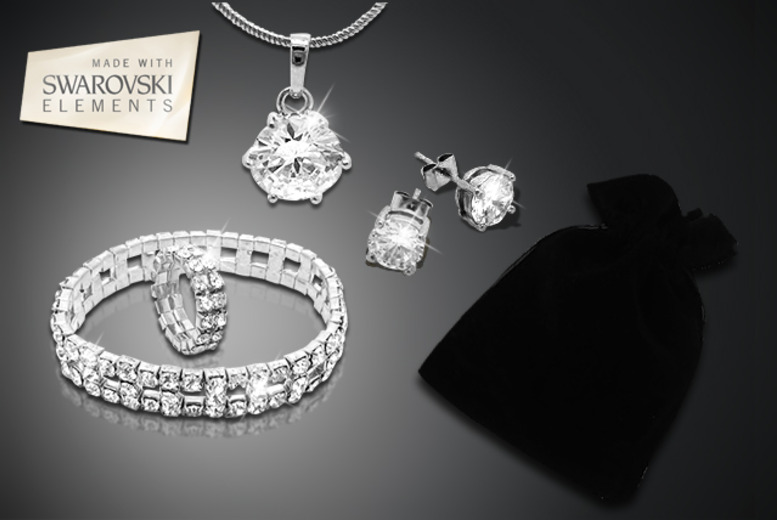 £16 instead of £200 (from Cian Jewels) for a 5pc luxury solitaire gift bag inc. necklace, earrings, bracelet, ring & mystery gift - save 92%