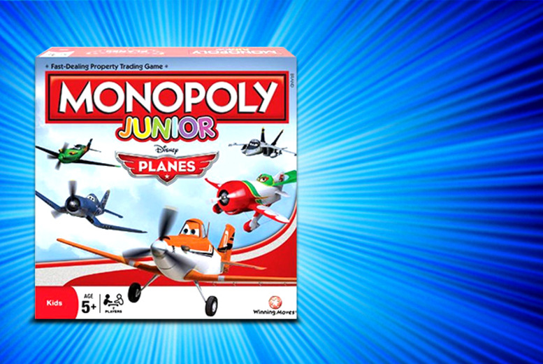 £12.99 instead of £19.99 for a Disney Planes Monopoly Junior board game from Wowcher Direct - save 35%