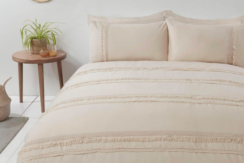 £19.99 for a single Sleepdown tassel bedding set, £24.99 for a double bedding set, £26.99 for a king size bedding set or £28.99 for a super king bedding set