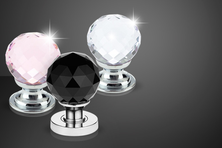 £5 instead of £19.98 (from Web 18) for 2 diamante crystal cabinet knobs, £9 for 4, £14 for 6, £25 for 12 - save up to 75%